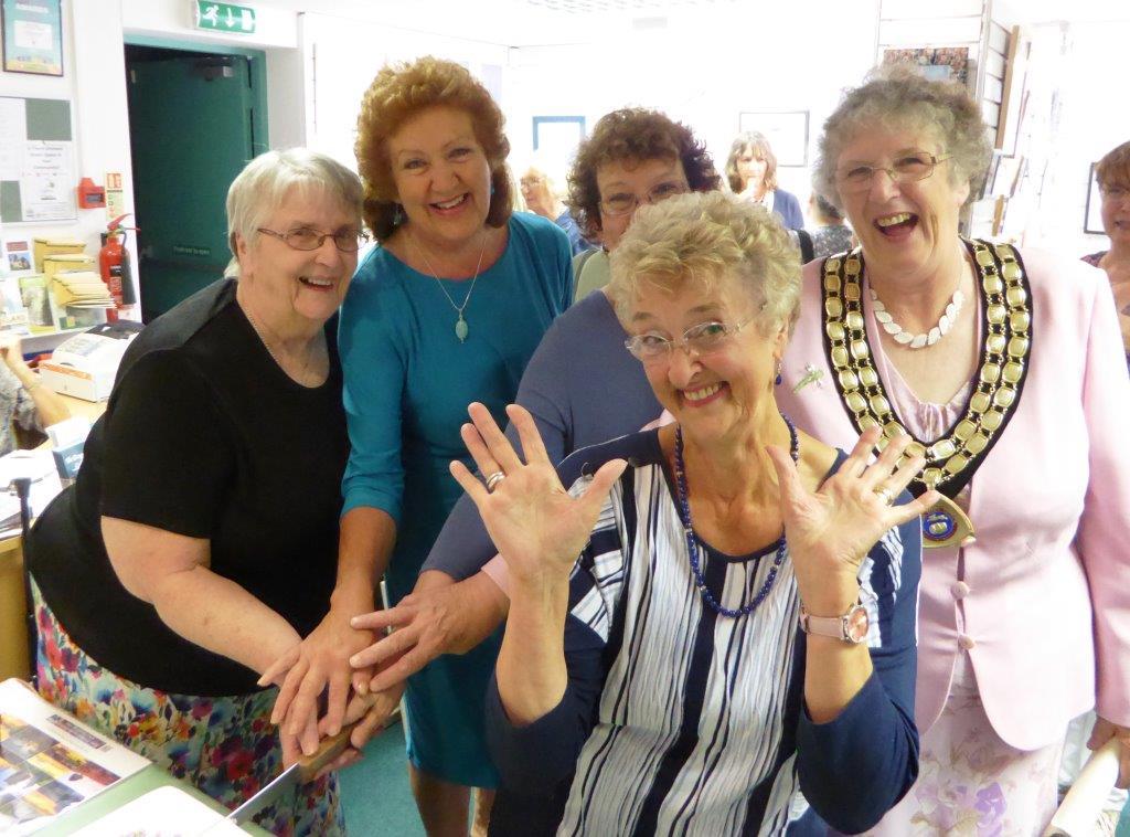 10 year celebration, September 2016. L-R Jan Godfrey, Susan Hollingworth, Sue Welfare, Beryl Bunning, Helena Anderson