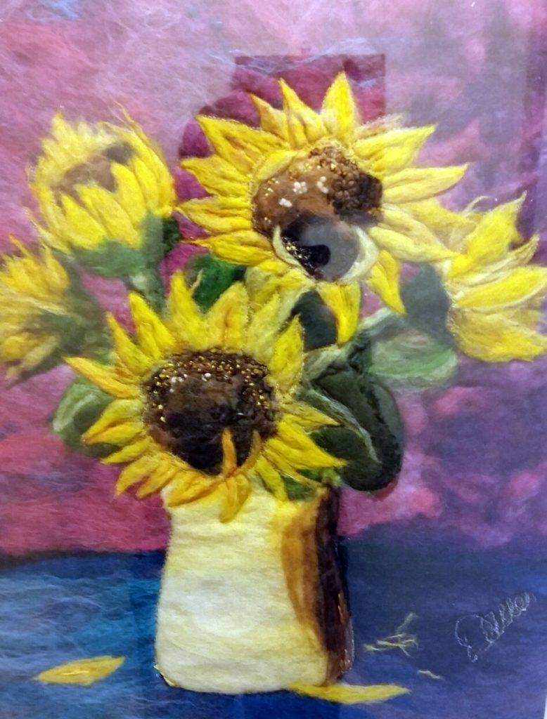 Dawn Allen Fibre Artist -Sunflowers