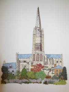 Vivienne Tuddenham - Norwich Cathedral _ Applique & Top Stitch