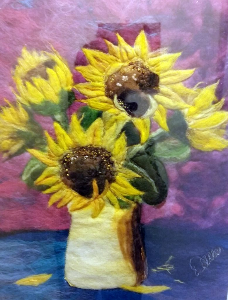 Dawn Allen Fibre Artist -Sunflowers
