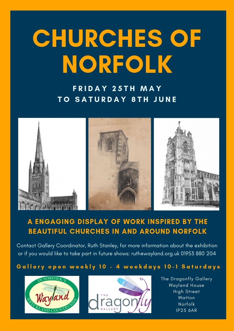 Churches of Norfolk Poster jpeg