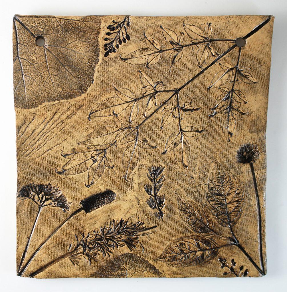 Black Manganese Plant Print