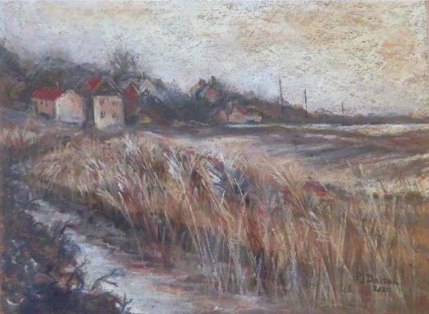 Cottages at Cley Tonal Pastel -Jane Dalton