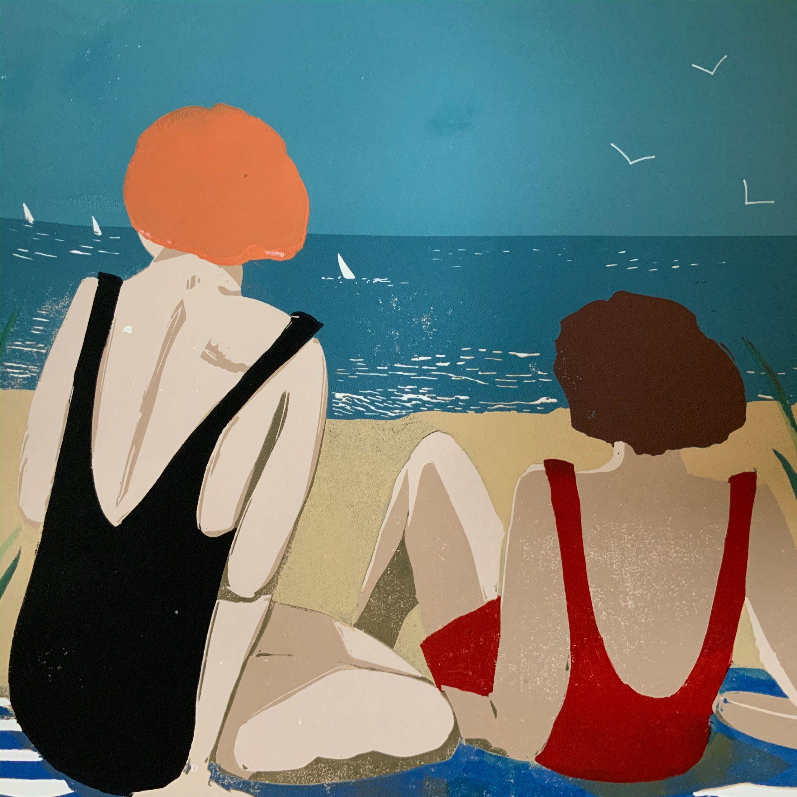 A little Summer Sun  - Linocut  -  30 cm x 30 cm (50 cm x 50 cm mounted)  -  £135