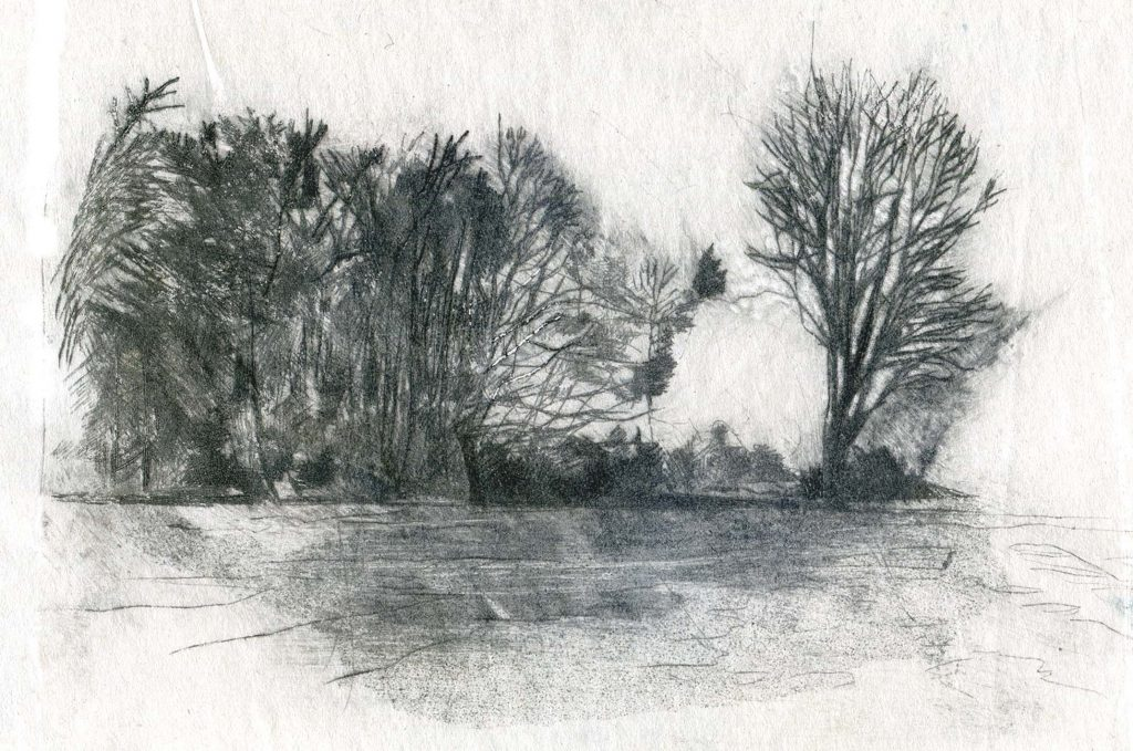 Isolation V - Monoprint -Charlotte Harker - 20 x 15 cm - £175