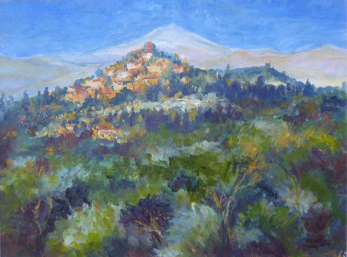 Montegabbione - Acrylic - Jane Dalton - Framed     45 x 39 - £75