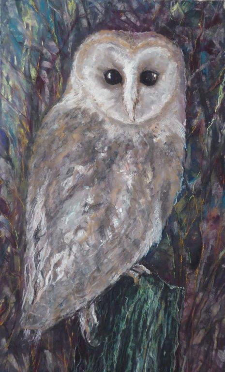 NOD, Our Barn Owl -Pastel - Jane Dalton - Unframed 31 x 51 - £80