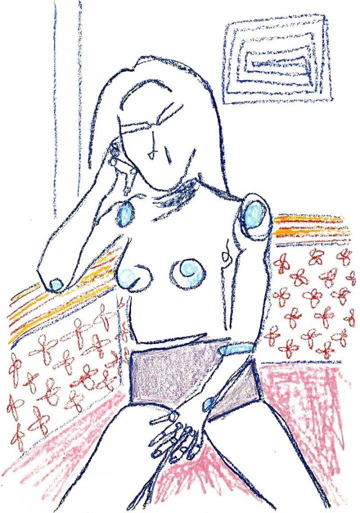 Maria Kelesidi - Week 3 - Oil bar on fine art paper - 29.7 x 41 cm - £250