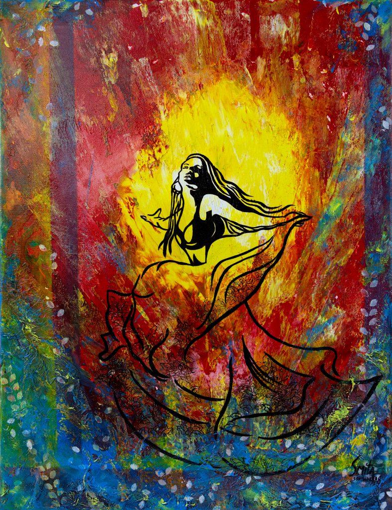 Smita Sonthalia - The Spark - Mixed Media - 50 x 60 cm - £120