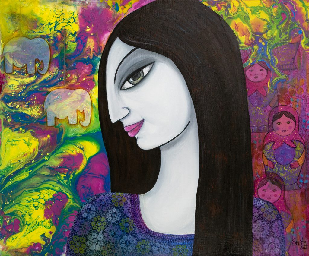 Smita Sonthalia - Little Princess - Mixed Media - 60 x 50 cm - £240
