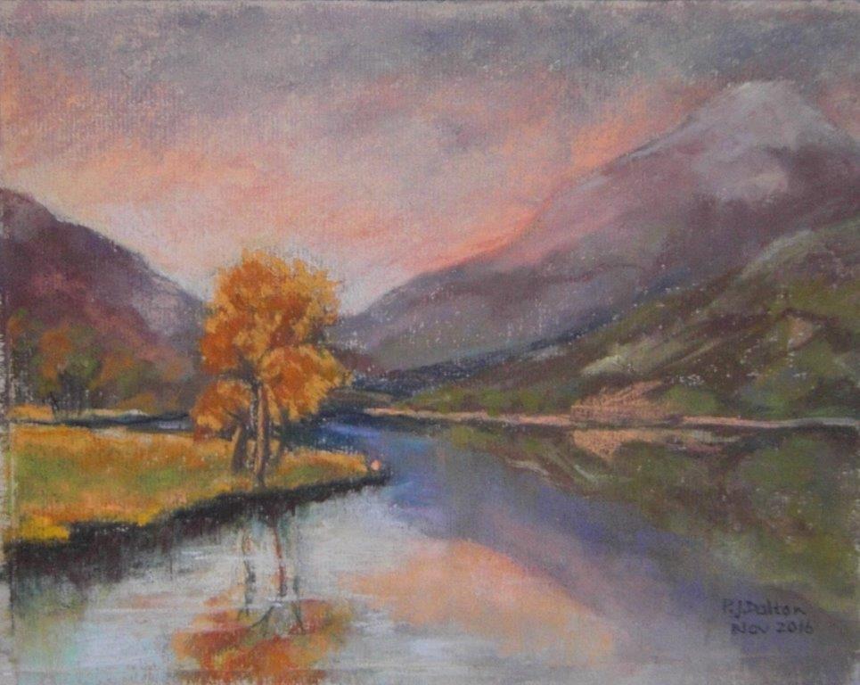 Jane Dalton  - Lyn Gwynant, Wales - Pastel Framed 40x34cms £89