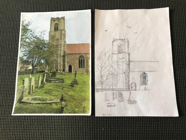 Neil Cordell - Caston Church and photograph