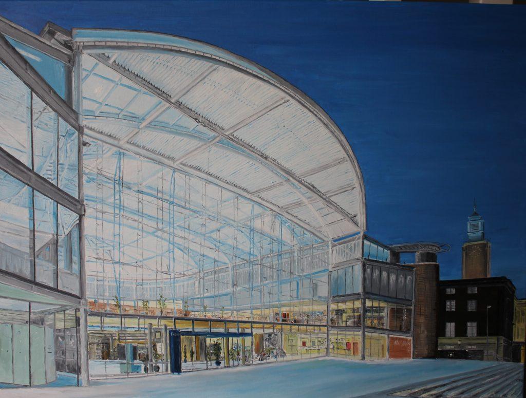Clive Bohannan - Norwich Forum- Oil on Canvas - 80cm x 60cm - £480