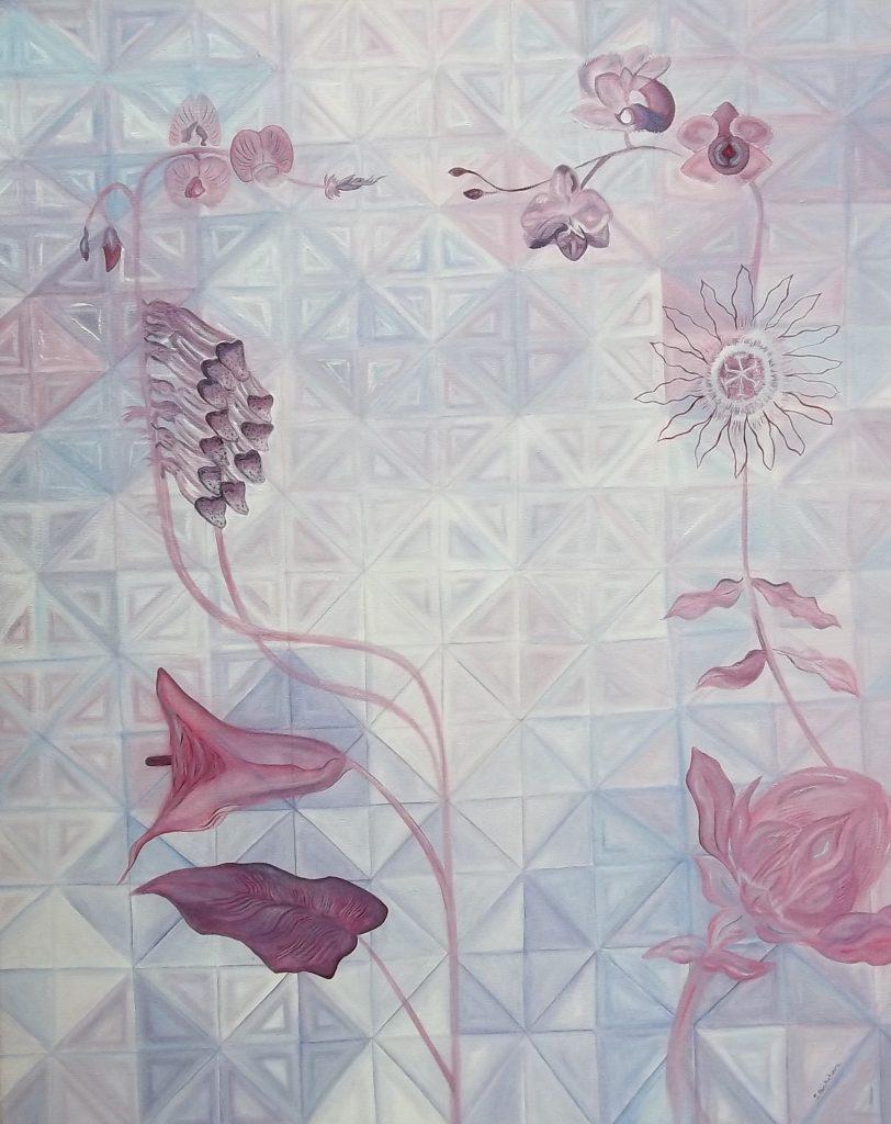 Sonia Ben Achoura - The Climb of Life - Oil on canvas - H76 x W61.7 - £1850