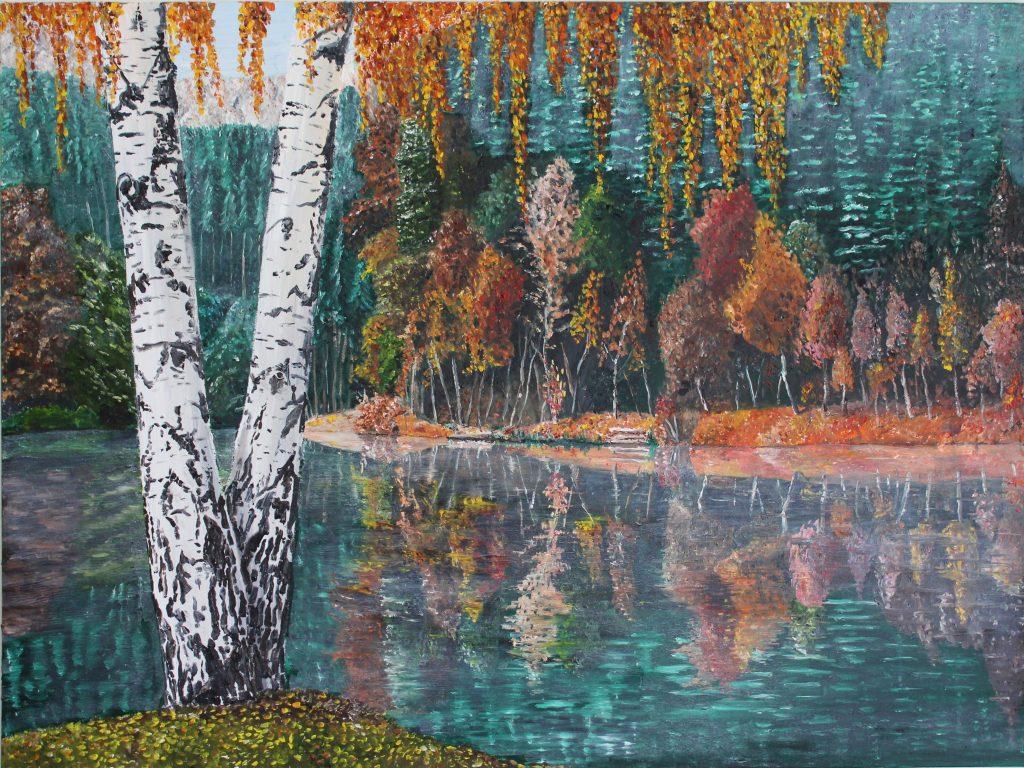 Clive Bohannan - Autumn Trees - Oil on Canvas- 80cm x 60cm- £480