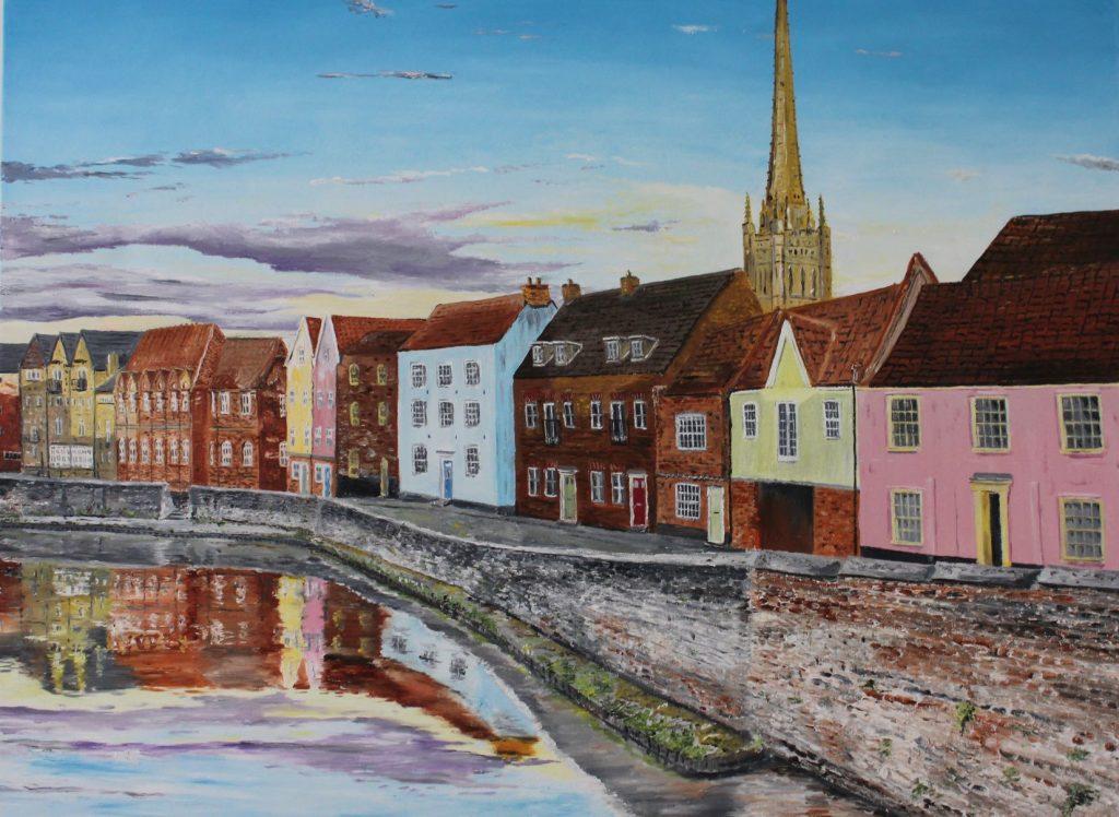 Clive Bohannan - Norwich Waterfront - Oil on Canvas- 80cm x 60cm - £480