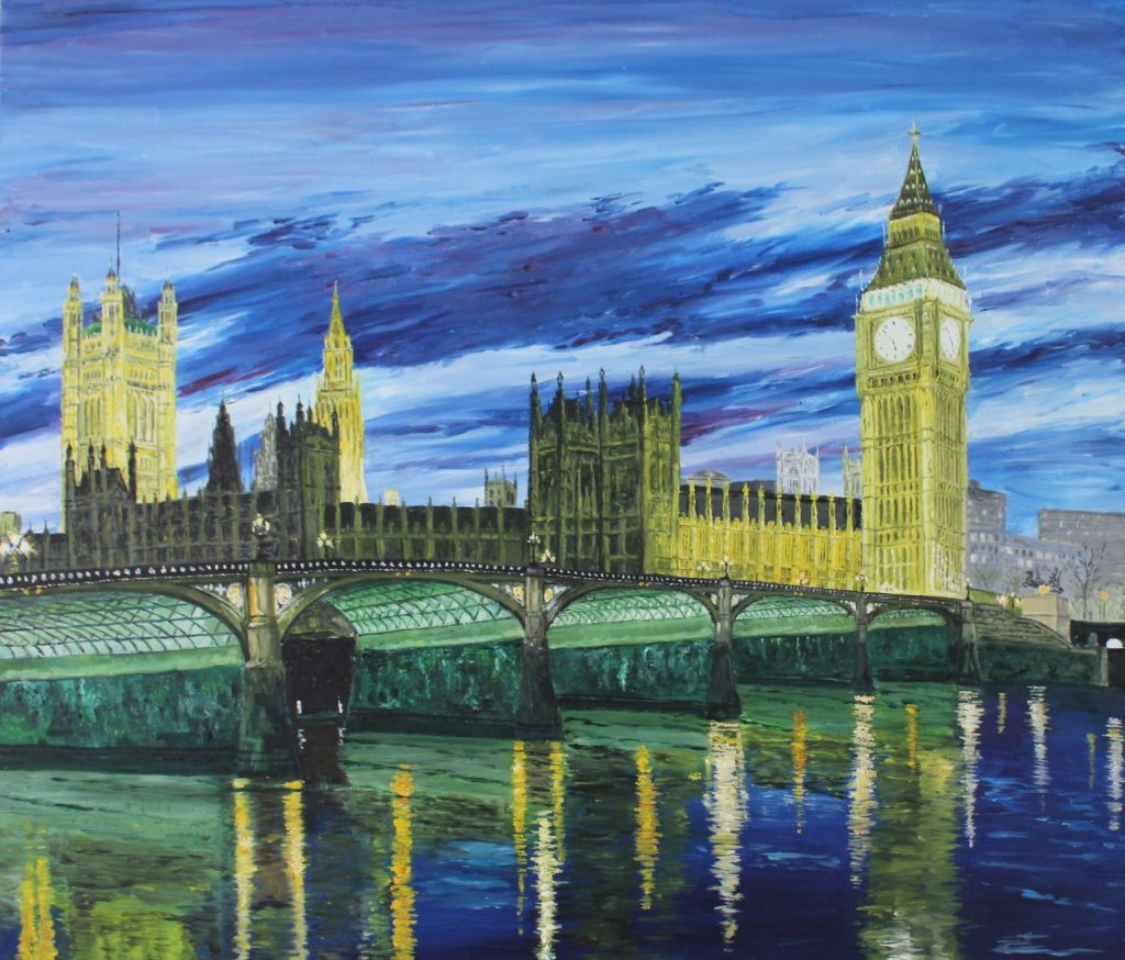 Clive Bohannan - Westminster Bridge and palace - Oil on Canvas - 70cm x 60cm - £440
