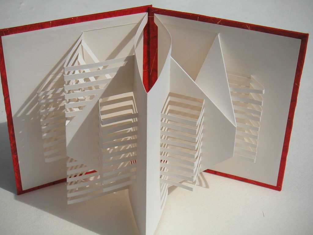 Lizanne van Essen - Carry On - artist's book sculpture;  card and paper - 15.5 x 19.5 cm (closed) - £75