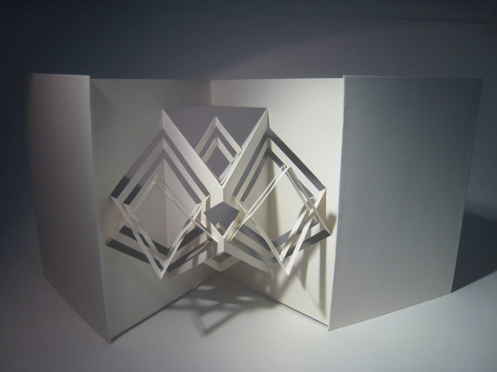 Lizanne van Essen - Diamondissimo - artist's book sculpture;  card and paper - 15.5 x 21.5 cm (closed) - £75
