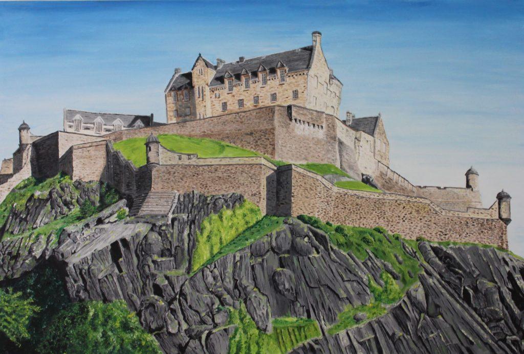 Clive Bohannan - Edinburgh Castle - Oil on Canvas - 90cm x 60 cm- £500