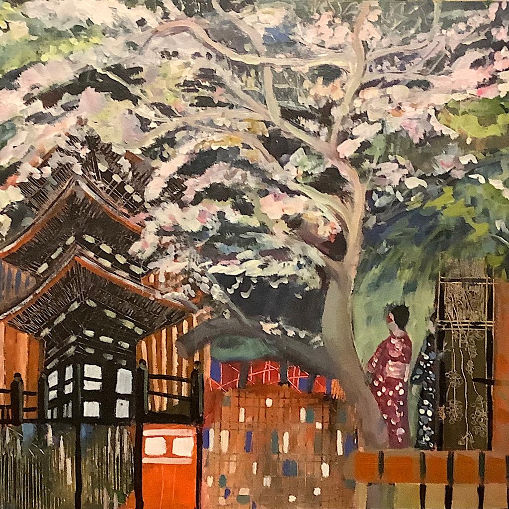 Angela Bell - A Taste of Japan - Mixed media - 76 x 50 cm - £325