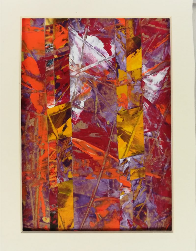 John Rance - Tropical Garden - Oil on board collage - 25 x 20 cm - £50