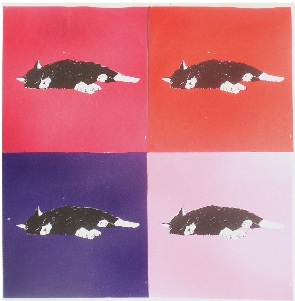 Mary Rouncefield - In The Pink - Screen print - 40 x 40 cm - £75