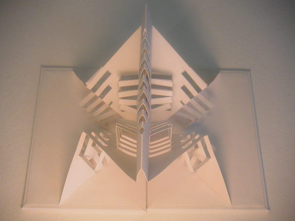 Lizanne van Essen - Panic Attack - artist's book  sculpture;  card and paper - 11 x 15.5 cm (closed) - £65