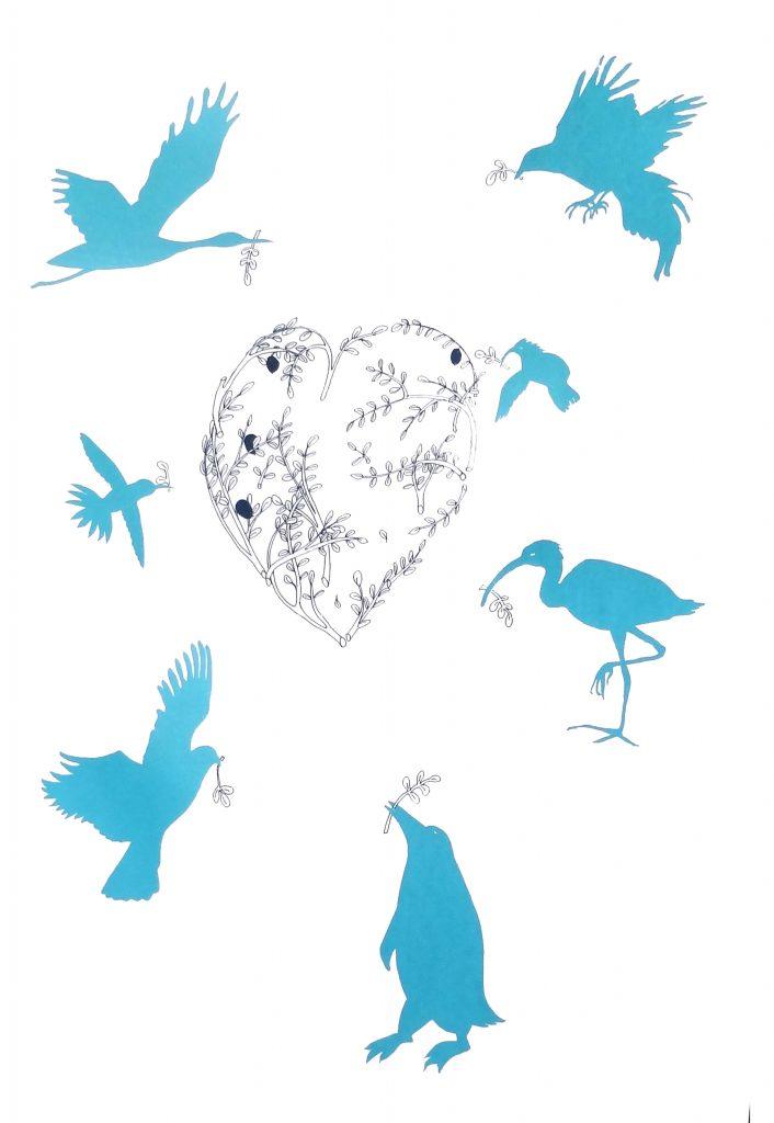 Mary Rouncefield - Peace Through Diversity - Screen print - 40 x 60 cm - £75