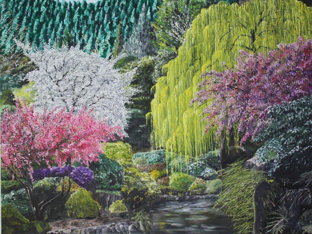 Clive Bohannan - Spring Trees - Oil on Canvas - 80 cm x 60 cm - £480