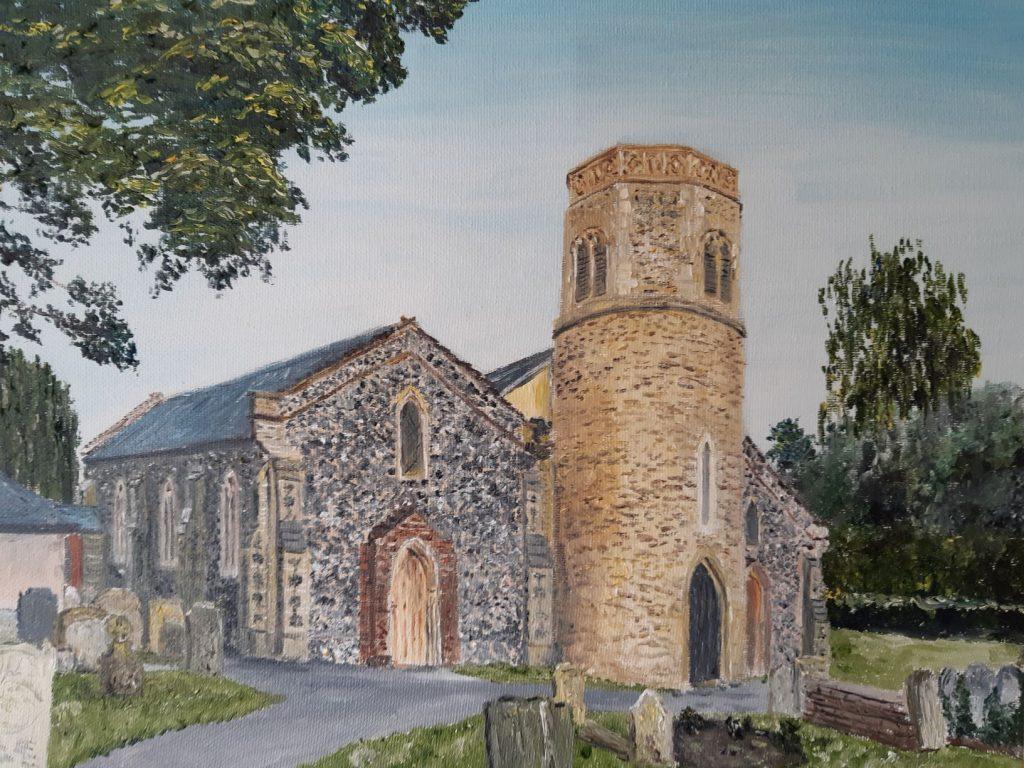 Clive Bohannan - St Marys Watton - Oil on Canvas- 40 cm x 30 cm- £120
