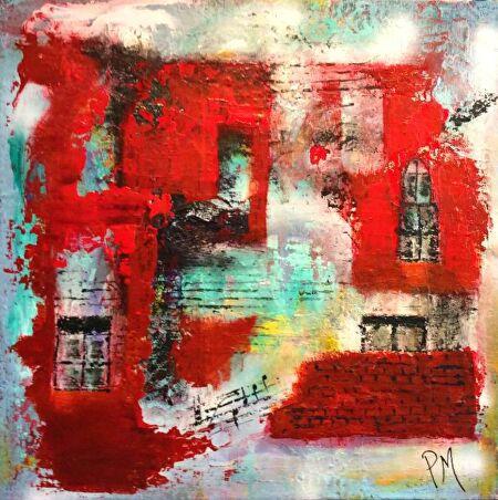 Philip McCumskey - The Old Music School - Acrylic on canvas - 40 cm x 40 cm - £165