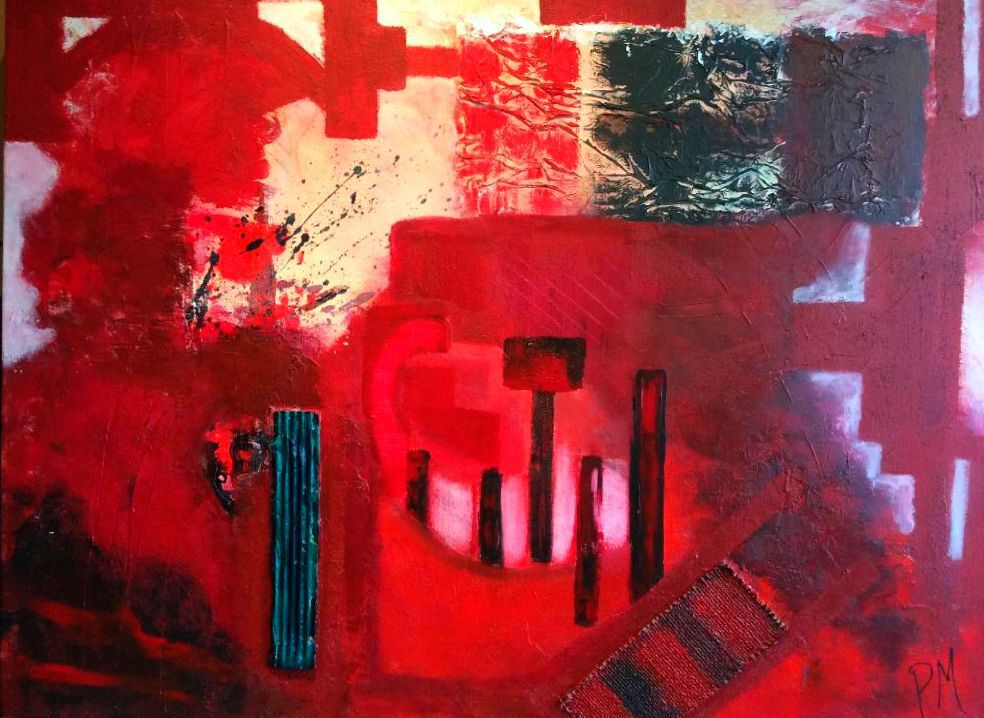Philip McCumskey - Whispers of the Past - Acrylic / Mixed media on canvas - 60cm x 80 cm- £275
