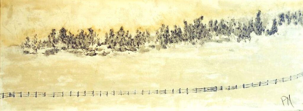 Philip McCumskey - Winter Trees - Acrylic on canvas - 30 cm x 70 cm - £165