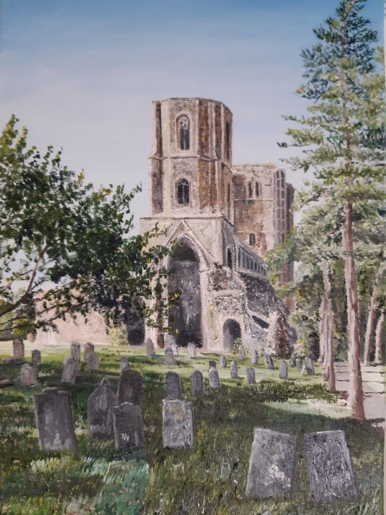 Clive Bohannan - Wymondham Abbey - Oil on canvas - 30cm x 42 cm - £120