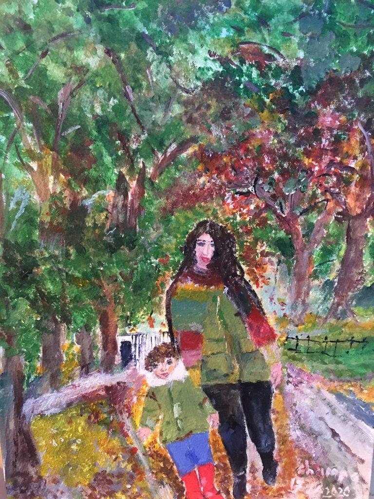 Champa Goria - Autumn Joy - Acrylic - 30 x 43 cm - £60