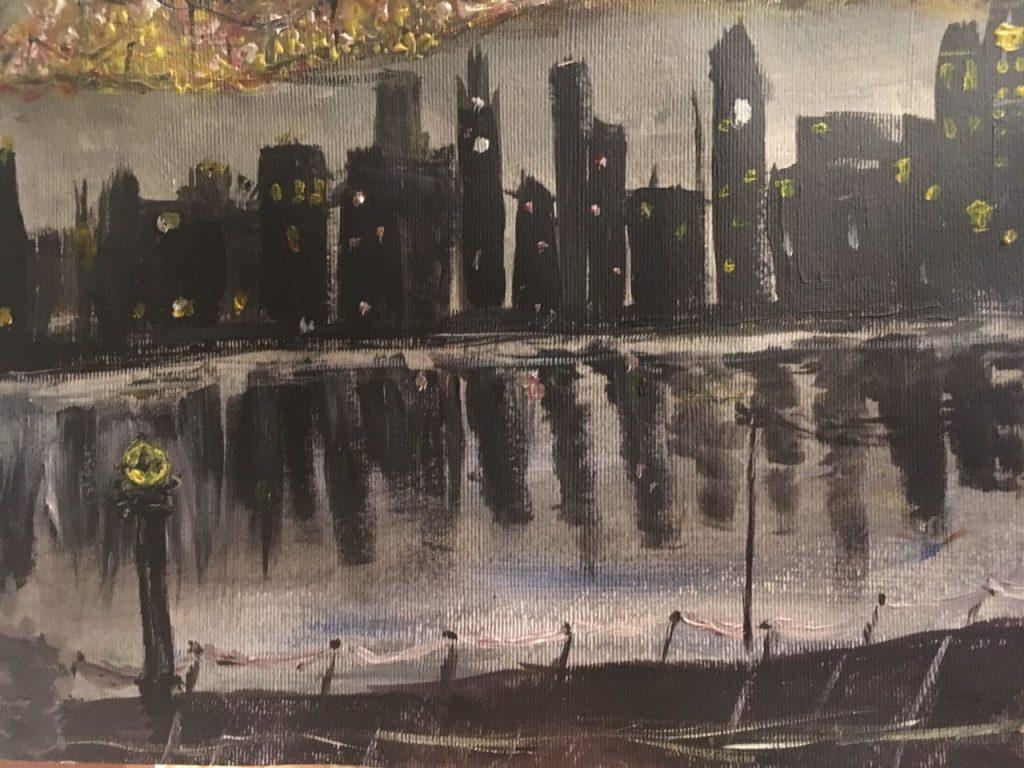 Champa Goria - City Lights - Acrylic - 25 x 18 cm - £40