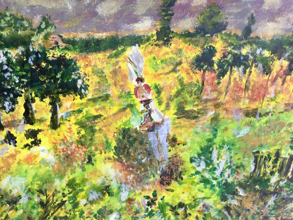 Champa Goria - In the fields - Acrylic - 30 x 43 cm - £60