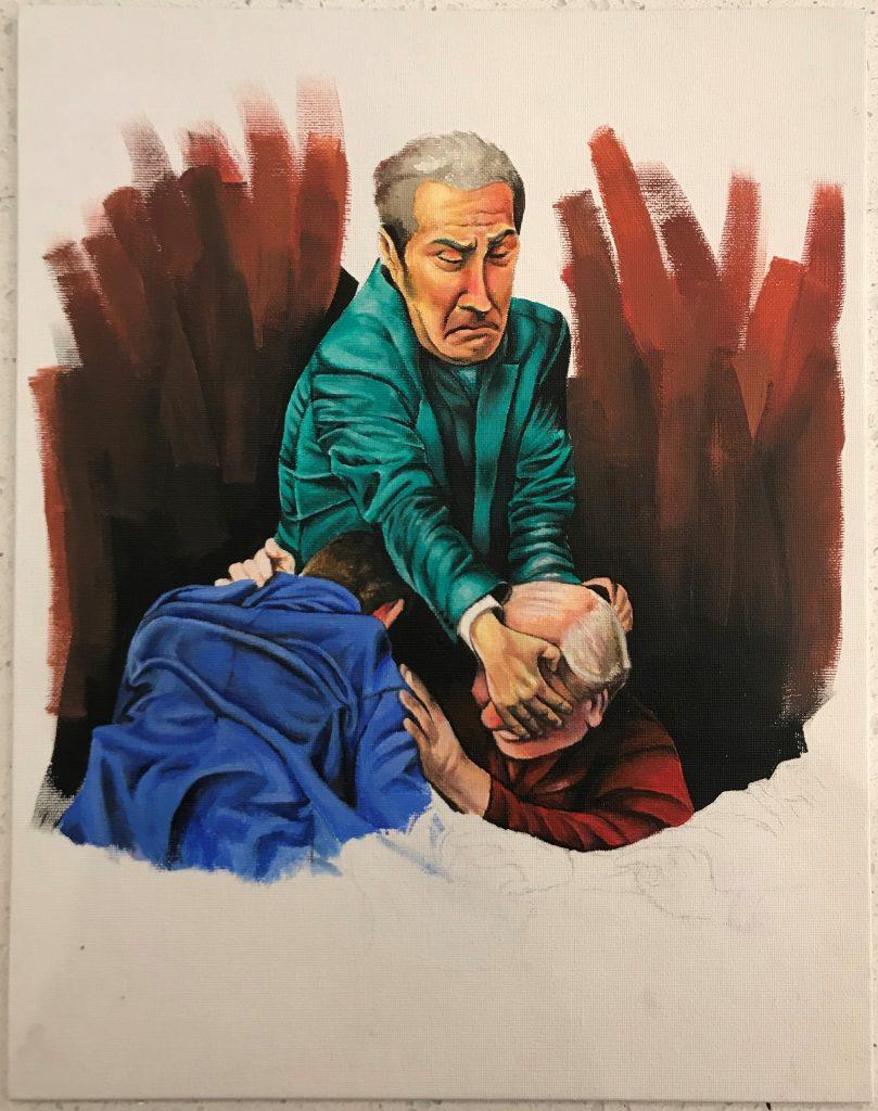 Lucy Price - Fearful politicians - Acrylic - 36 x 28 cm - £400