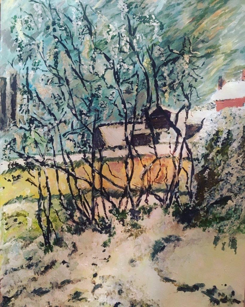 Champa Goria - The Winter Chill - Acrylic - 30 x 43 cm -£60