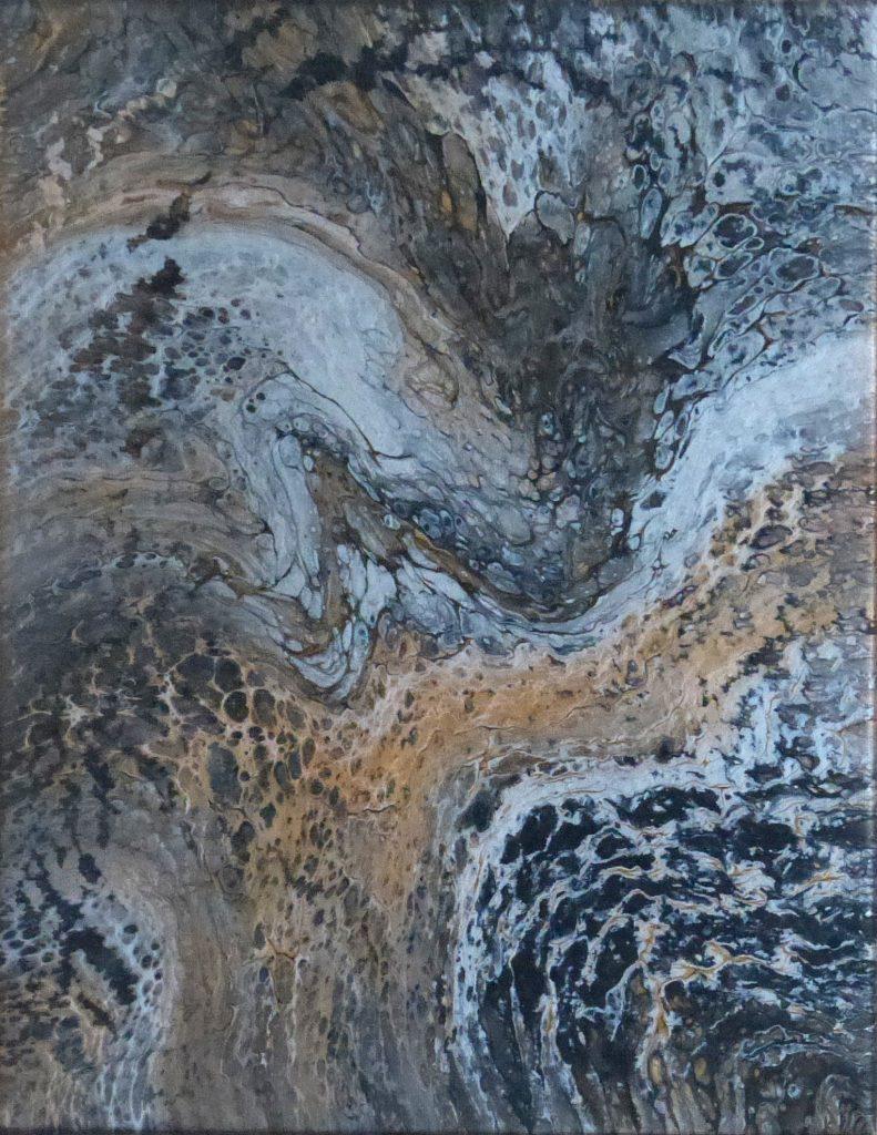 Kim Hall - Nebula - Acrylic - 36 x 28 cm - £35