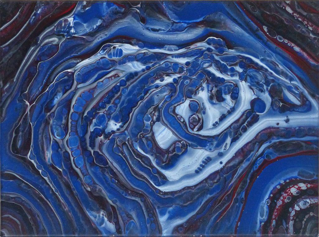 Kim Hall - Whirlpool - Acrylic - 40 x 30 cm - £40