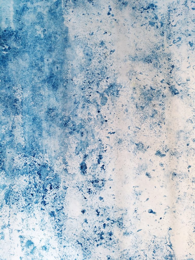 Genevieve Rudd - 8th to 15th Feb (Storm Darcy) ice cyanotype (A3 - 1) - Price on request