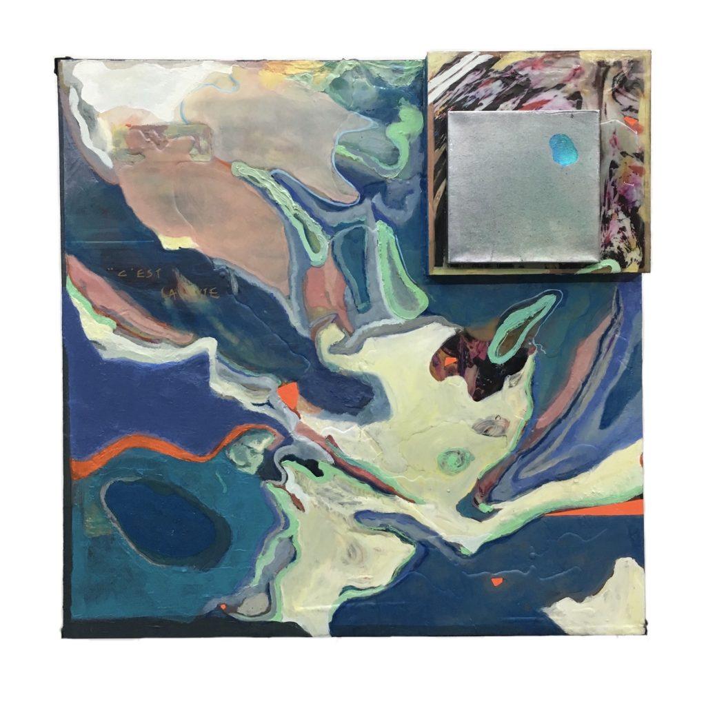 Yiting Xie - c'est la vie I - Acrylic - 80 x 80 cm - £1000
