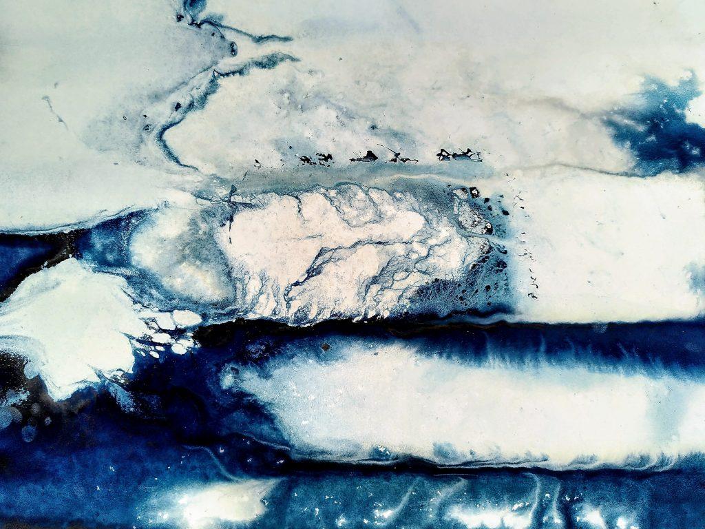 Genevieve Rudd - Ice Cyanotype - 1200 1st Jan to 1000 3rd Jan -