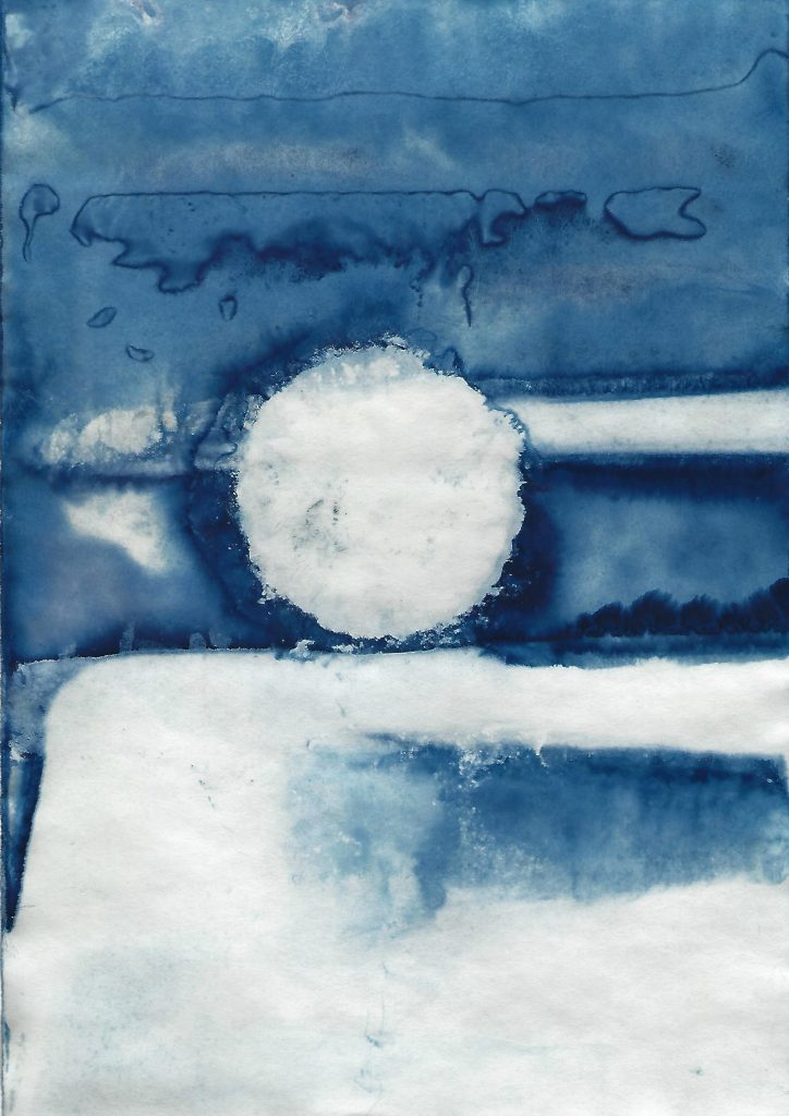 Genevieve Rudd - Ice Cyanotype 7th to 9th Jan 2021 (1) - Price on request