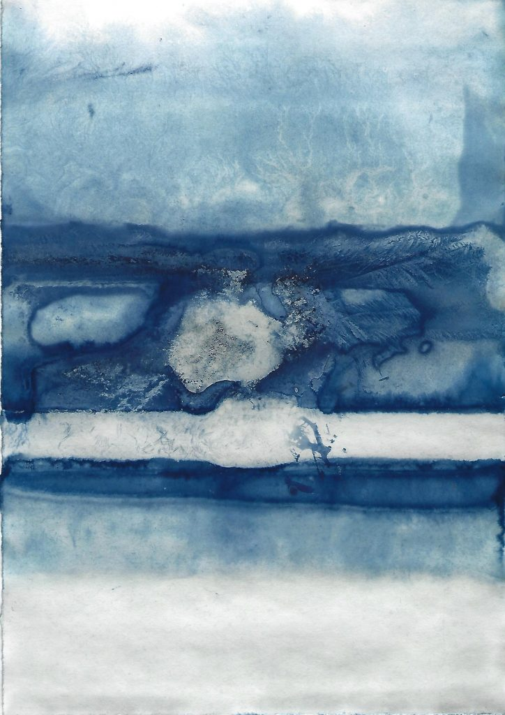 Genevieve Rudd - Ice Cyanotype 7th to 9th Jan 2021 (3) - Price on request