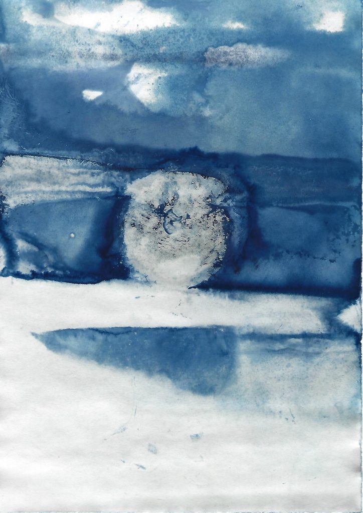 Genevieve Rudd - Ice Cyanotype 7th to 9th Jan 2021 (4) - Price on request