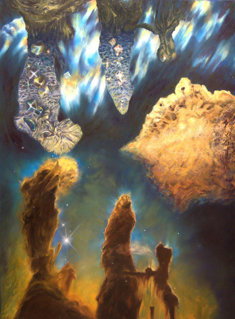 Samuel Golc - Noncommutative Pillars of Creation - Oil on canvas - 101.5 x 76 cm - £7,500