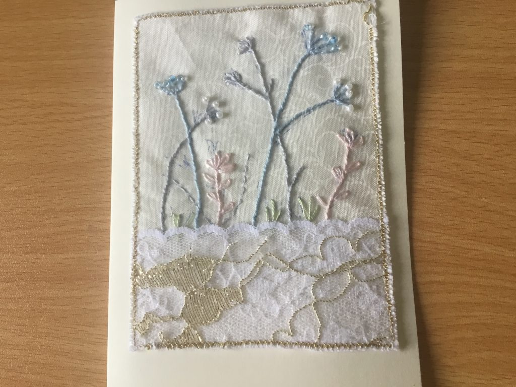 Val Simpson - Flowers 1 - Textiles Greeting Card - £4